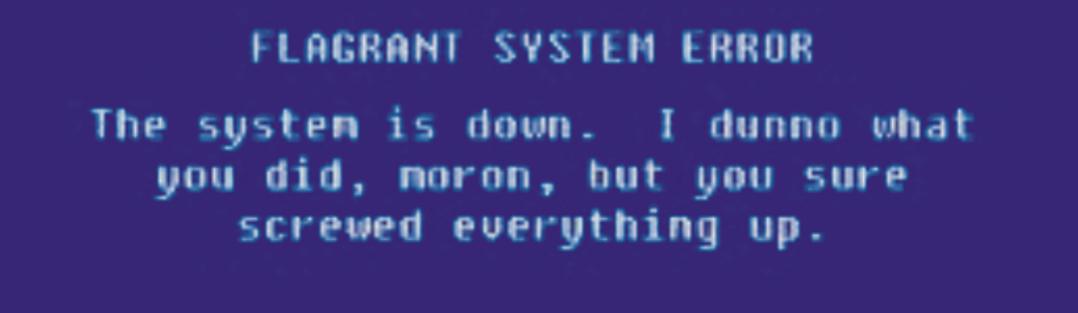 снимка: грешка в системата