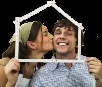 снимка: дом и целувка
